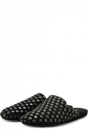 Домашние туфли без задника Homers At Home. Цвет: черный
