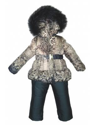 Комплект (куртка, полукомбинезон) BORELLI. Цвет: коричневый