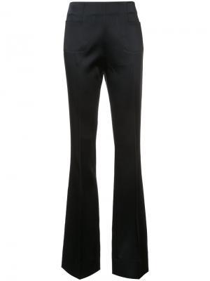 Атласные расклешенные брюки Roland Mouret. Цвет: чёрный