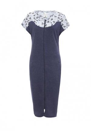 Платье домашнее Relax Mode. Цвет: синий