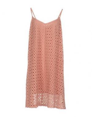 Короткое платье ANIYE BY. Цвет: пастельно-розовый