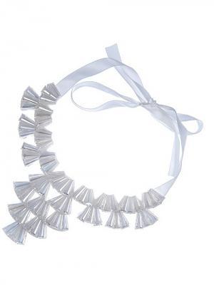 Воротник-ожерелье на ленте Chantal. Цвет: белый