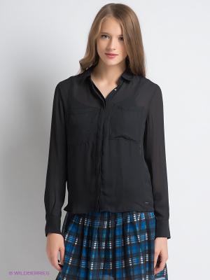 Блузка PEPE JEANS LONDON. Цвет: черный