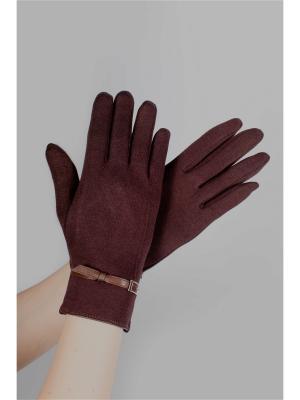 Пеpчатки Sophie Ramage. Цвет: коричневый
