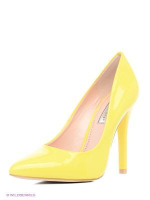 Туфли INARIO. Цвет: желтый