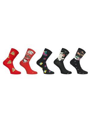 Носки 5 пар Master Socks. Цвет: красный