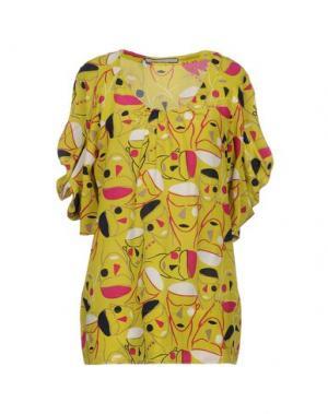 Блузка AQUILANO-RIMONDI. Цвет: кислотно-зеленый