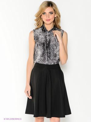 Блузка Top Secret. Цвет: черный, белый