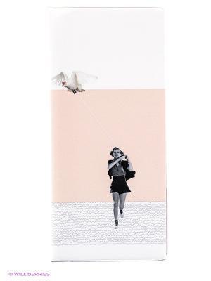 Обложка для путешествия Girl with bird Kawaii Factory. Цвет: бежевый, белый