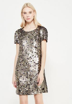 Платье French Connection. Цвет: золотой
