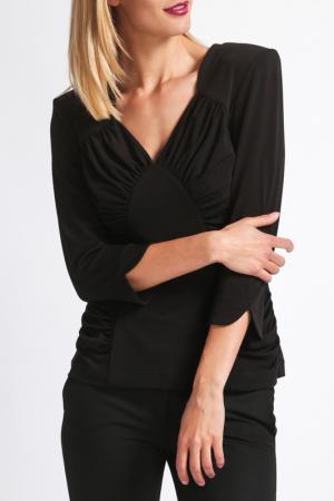 Блуза Georgede. Цвет: black