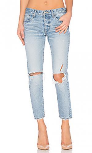 Состаренные облегающие джинсы sanford Moussy. Цвет: none