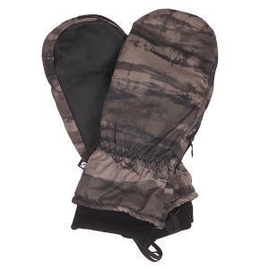 Варежки сноубордические  Mb Hi5 Mitt Camo Tie Die Stripe Burton. Цвет: черный,бежевый