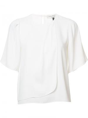 Блузка с короткими рукавами Halston Heritage. Цвет: белый