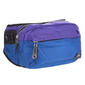 Сумка поясная  Hippack Violet/Blue Shweyka. Цвет: синий,фиолетовый