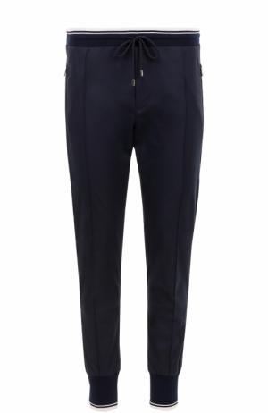 Хлопковые джоггеры с карманами Dolce & Gabbana. Цвет: синий