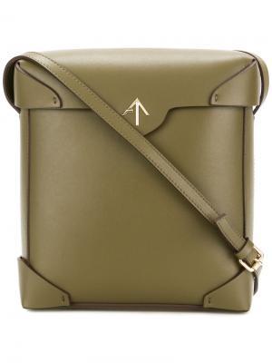 Квадратная сумка через плечо Manu Atelier. Цвет: зелёный