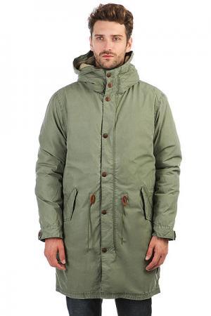 Куртка парка  Bremerland Rifle Green Quiksilver. Цвет: зеленый