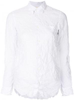 Рубашка с мятым эффектом Junya Watanabe Comme Des Garçons. Цвет: белый