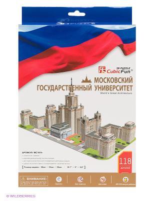 3D-пазл Московский Государственный Университет CubicFun. Цвет: синий, красный, белый
