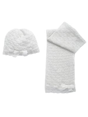 Комплект: шапка и шарф CHICCO. Цвет: бежевый