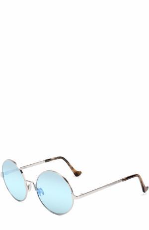Солнцезащитные очки Cutler and Gross. Цвет: голубой