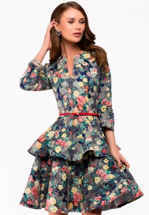 Платье 1001dress. Цвет: разноцветный