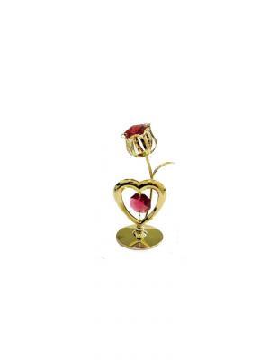 Фигурка декоративная Тюльпан CRYSTOCRAFT. Цвет: золотистый