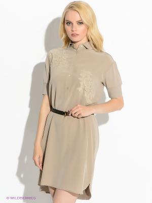 Платье Henry Cotton's. Цвет: бежевый