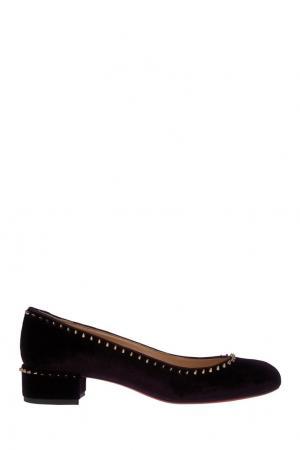 Бархатные туфли Treliliane 30 Christian Louboutin. Цвет: фиолетовый