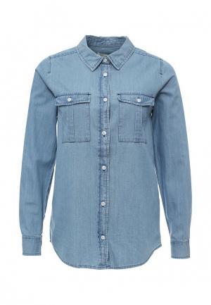 Рубашка джинсовая BlendShe. Цвет: голубой