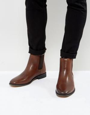 Bellfield Кожаные ботинки челси. Цвет: коричневый