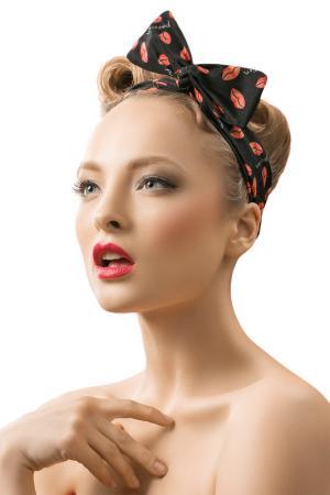 Ободок для волос Nothing but Love. Цвет: черный, красный