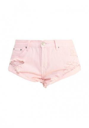Шорты джинсовые Glamorous. Цвет: розовый