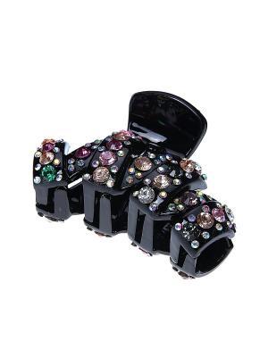 Заколка - краб Infiniti. Цвет: черный, серебристый, розовый
