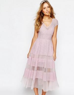 Body Frock Платье-тюльпан Wedding. Цвет: фиолетовый