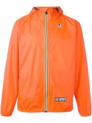 Куртка на молнии K-Way x Les (Art)Ists. Цвет: жёлтый и оранжевый