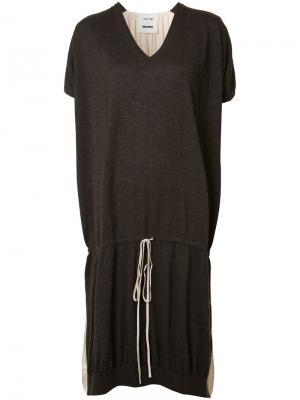 Платье-футболка на шнурке Uma Wang. Цвет: коричневый