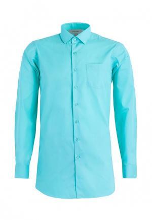 Рубашка Stenser. Цвет: бирюзовый