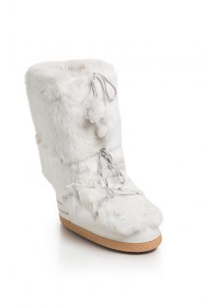 Унты с отделкой из меха и носками 171186 Bogner Sport Man. Цвет: белый