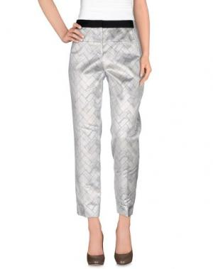 Повседневные брюки PRABAL GURUNG. Цвет: светло-серый