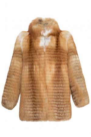Шуба из меха лисы 159831 Marusya. Цвет: оранжевый