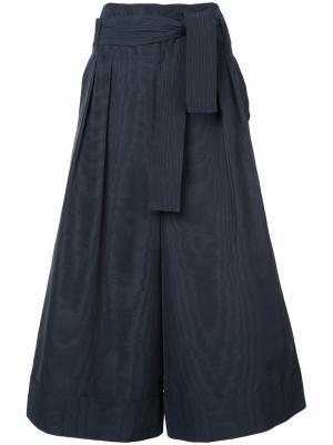 Укороченные брюки на завязках Adam Lippes. Цвет: синий