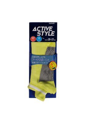 Носки GUNZE. Цвет: желтый