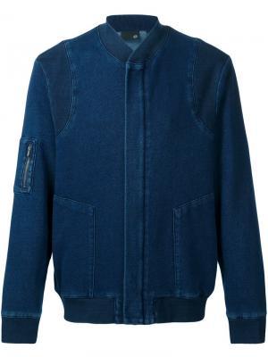 Куртка-бомбер Atroi Ag Jeans. Цвет: синий