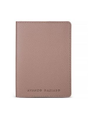 Обложка для паспорта Avanzo Daziaro. Цвет: светло-коричневый