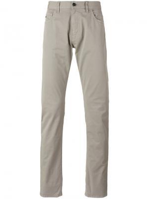 Классические брюки чинос Z Zegna. Цвет: серый