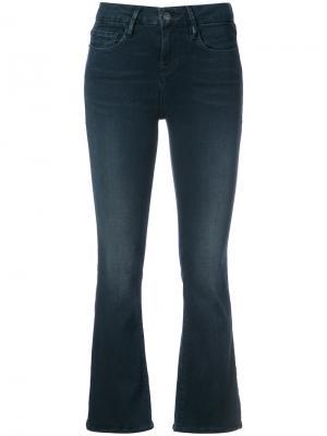 Укороченные слегка расклешенные джинсы Frame Denim. Цвет: синий
