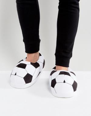 ASOS Черно-белые слиперы в футбольном стиле. Цвет: мульти