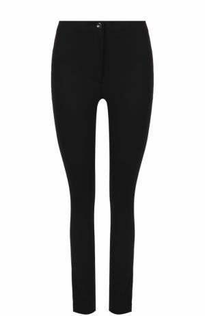 Шерстяные однотонные брюки-скинни Helmut Lang. Цвет: черный